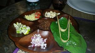 The Welcome plate in Thai Tradition