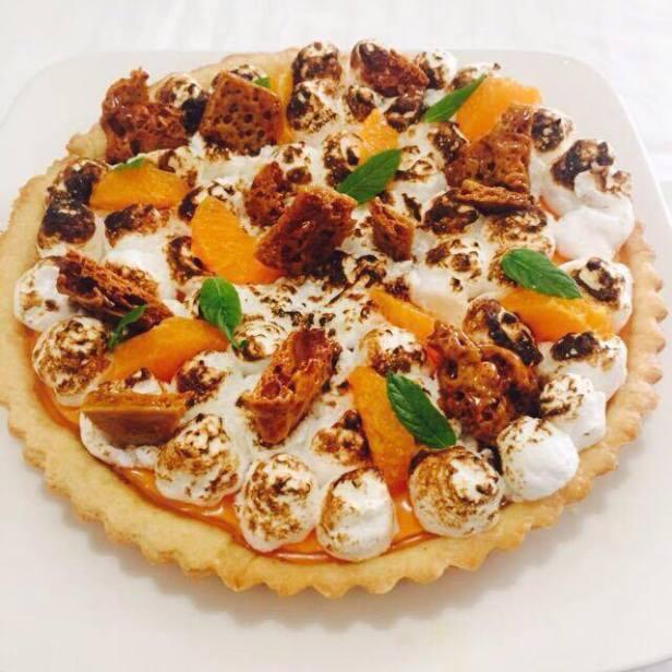 Orange Meringue Pie with Honey Combs.jpg