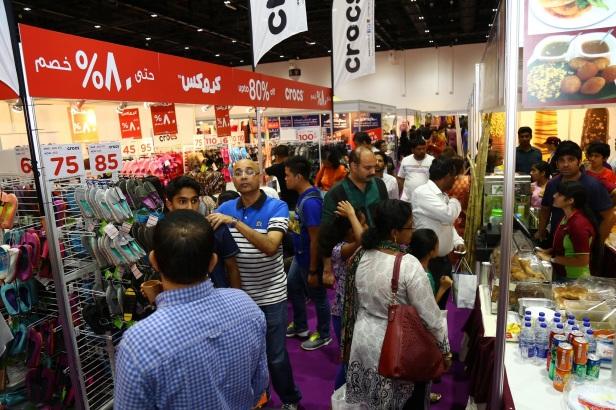 Shopping enthusiasts at Ramadan Night Market