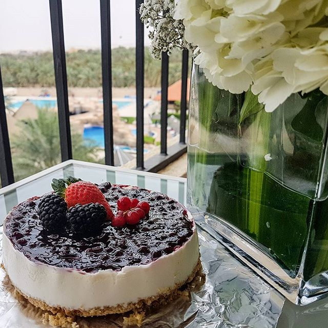 Its happy #Birthday to me Thank you @danat_al_ain_resort for this lovely and its my fav Raspberry Cheesecake!!! #dubaifoodflogger #uaefoodblogger #foodblogger #danatalainresort  #food #foodporn #yum #instafood #socialenvy #shopstemdesigns #yummy #instagood #photooftheday #sweet #dinner #lunch #breakfast #fresh #tasty #food #delish #delicious #eating #foodpic #foodpics #eat #hungry #foodgasm #hot #foods