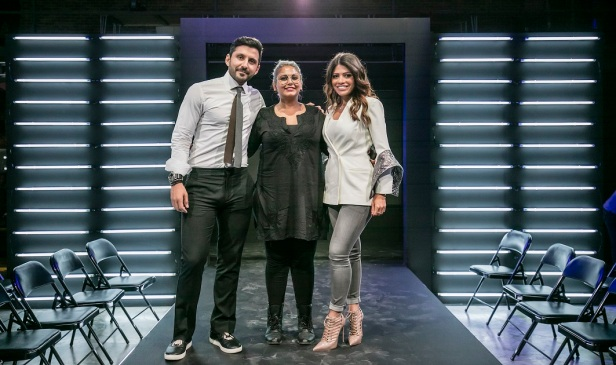 TRESemme Academy Finale Winner Sugandh Dariya with judges Georges and Alanoud